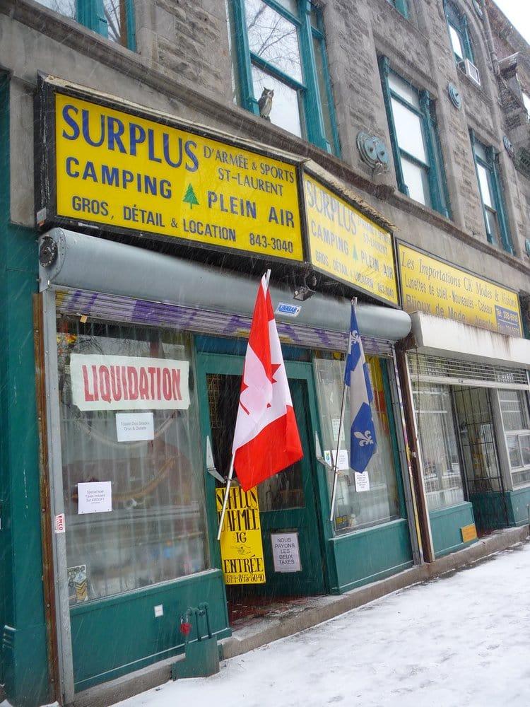 Surplus d'Armée Sports IG: 1611 Boulevard Saint-Laurent, Montreal, QC
