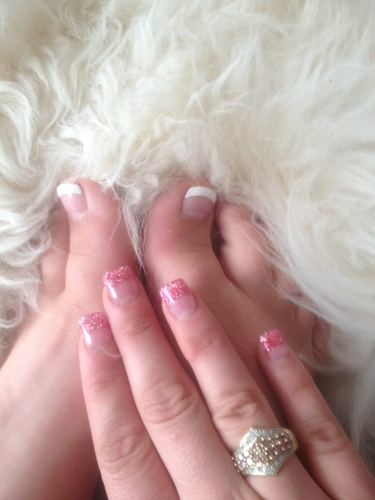 French tip pedicure and colored tipped acrylics cost 60 dollars. Not ...