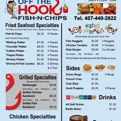 Off the hook fish n chips closed 15 photos 10 for Fish and hooks menu