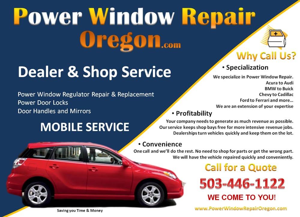 Power Window Repair - Portland - Auto Glass Services - Beaverton ...