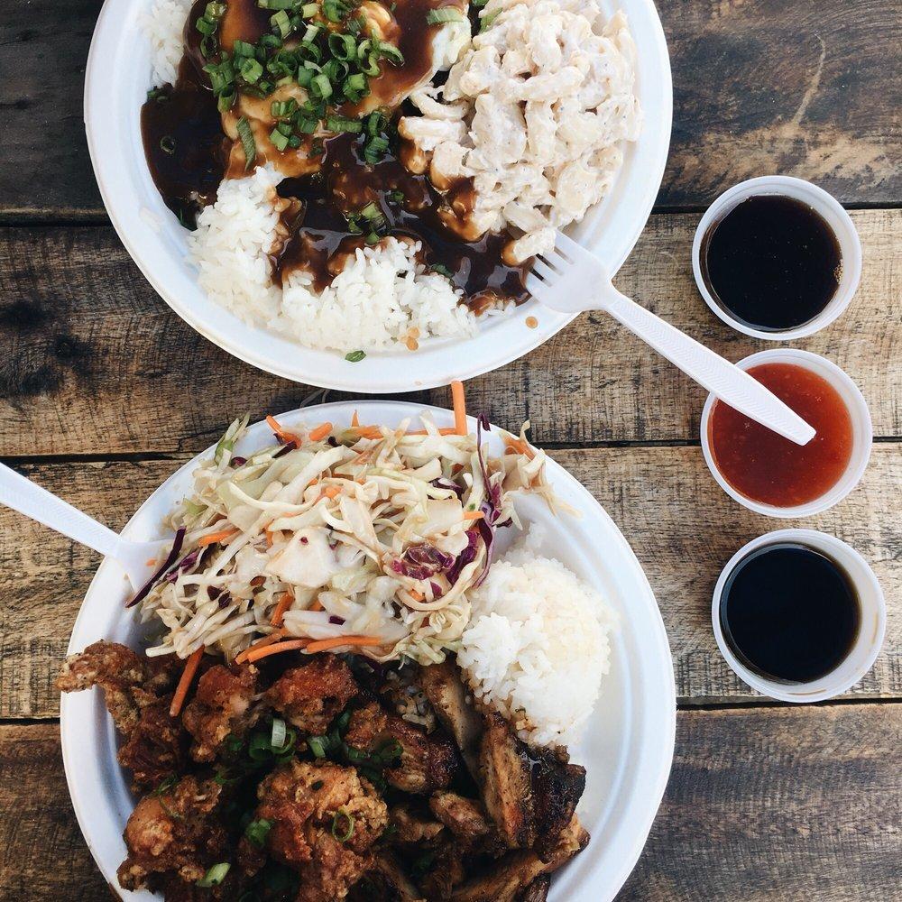 Food from Lani Moku Grill