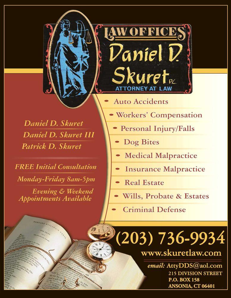 Law Offices of Daniel D Skuret: 215 Division St, Ansonia, CT