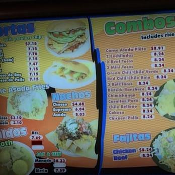 Salsitas Mexican Food Menu