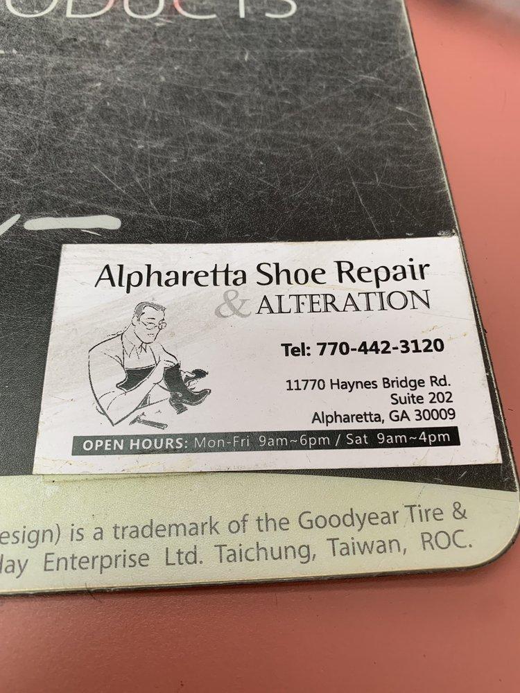 Alpharetta Shoe Repair & Alterations: 11770 Haynes Bridge Rd, Alpharetta, GA