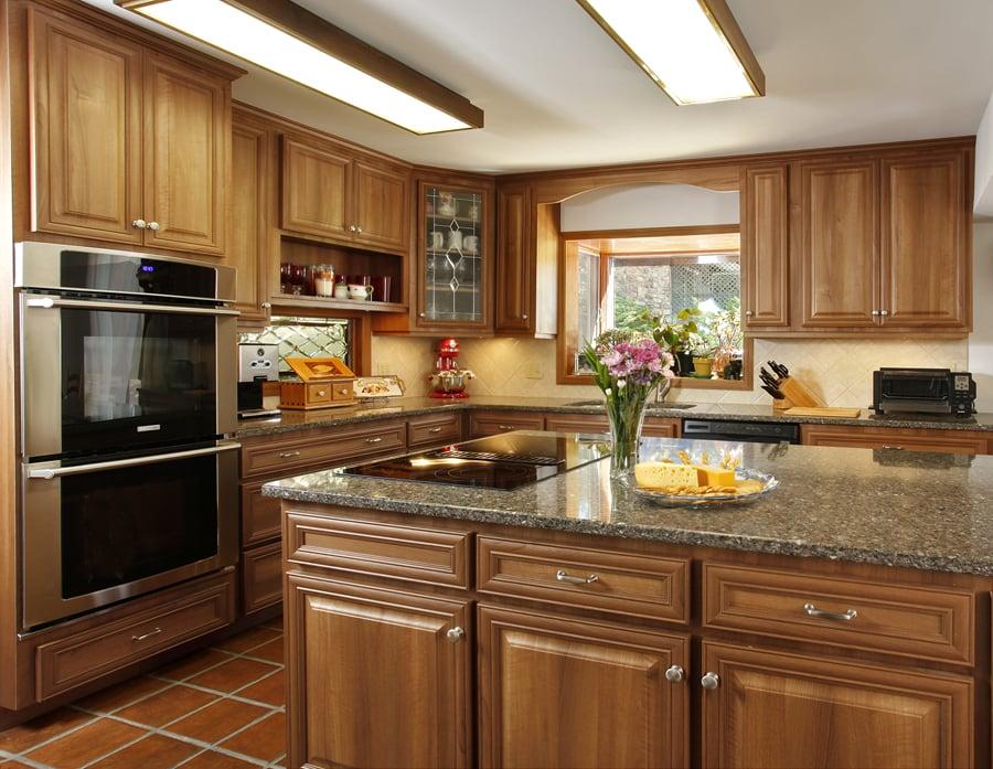 Refaced Kitchen Cabinets Hazelnut Vintage Raised Panel