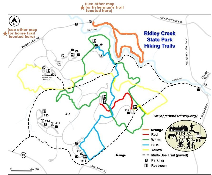 Ridley Creek State Park Map Ridley Creek State Park Trail Map   Yelp