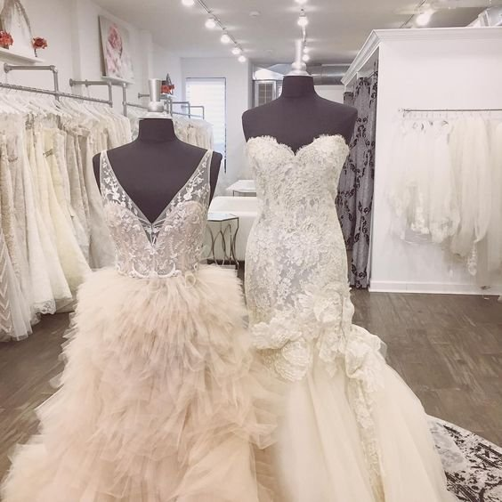 We love Lazaro wedding dresses! These sample wedding gowns are ...