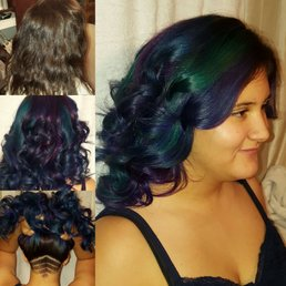 Mane reason by jessica 28 photos hair stylists 3330 n galloway photo of mane reason by jessica mesquite tx united states this is this is called oil slick vivid color technique solutioingenieria Images