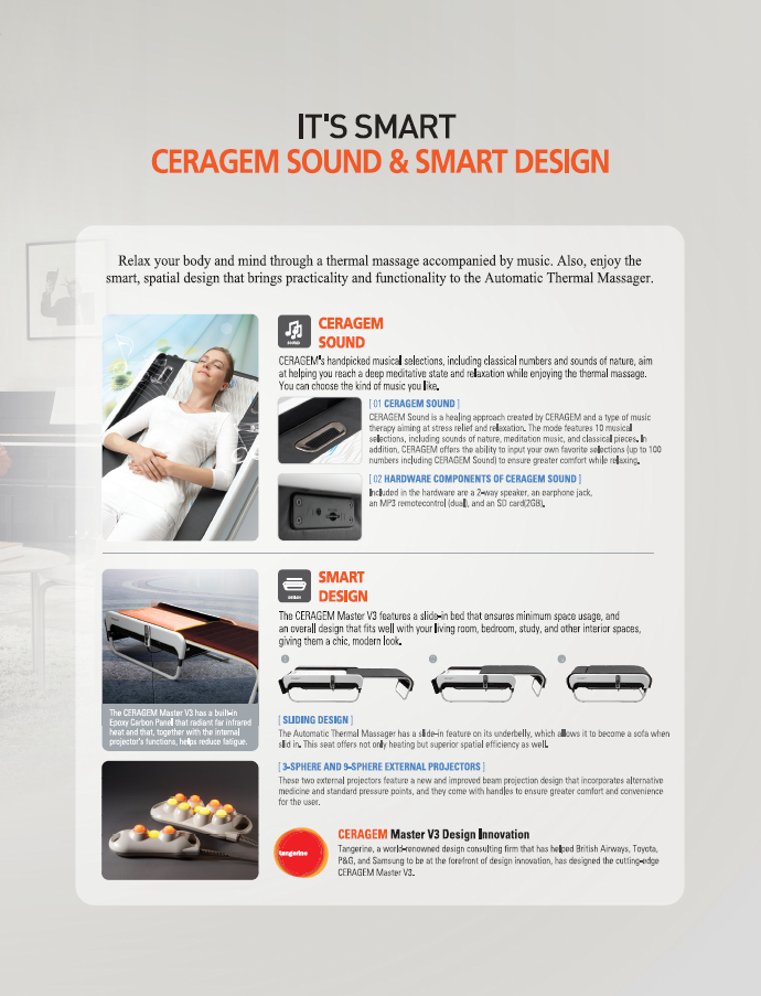 The NEW CERAGEM Master V3 Thermal Massage Bed - A personalized and
