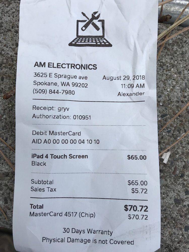AM Electronics: 3625 E Sprague Ave, Spokane, WA
