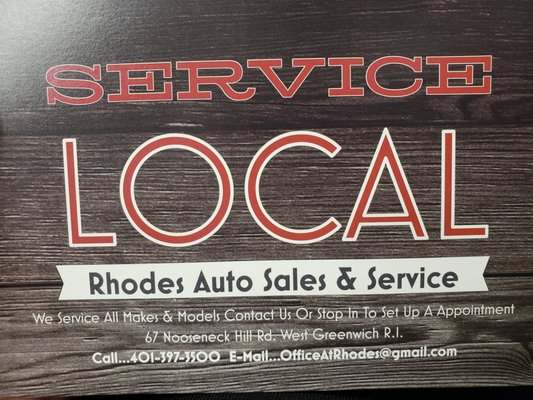 Rhodes Auto Sales >> Rhodes Auto Sales And Service 67 Nooseneck Hill Rd West Greenwich