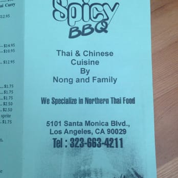 Spicy BBQ Restaurant - 5101 Santa Monica Blvd, East