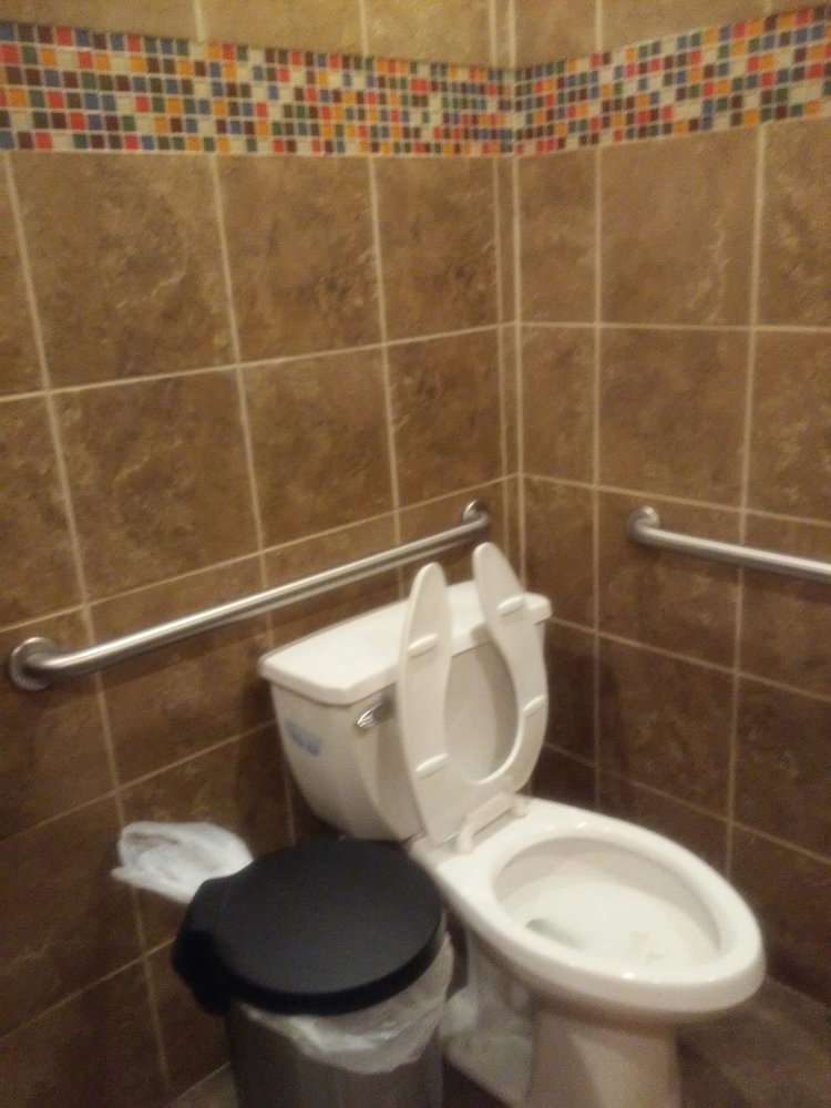 The toilet was clean. I always post information about restrooms. A ...