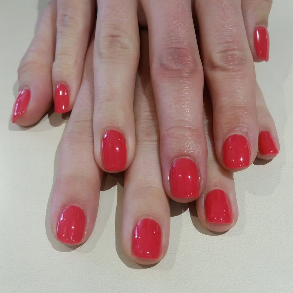 LOVE this color. Shellac #33 Lobster Roll. Perfect mani!!! - Yelp