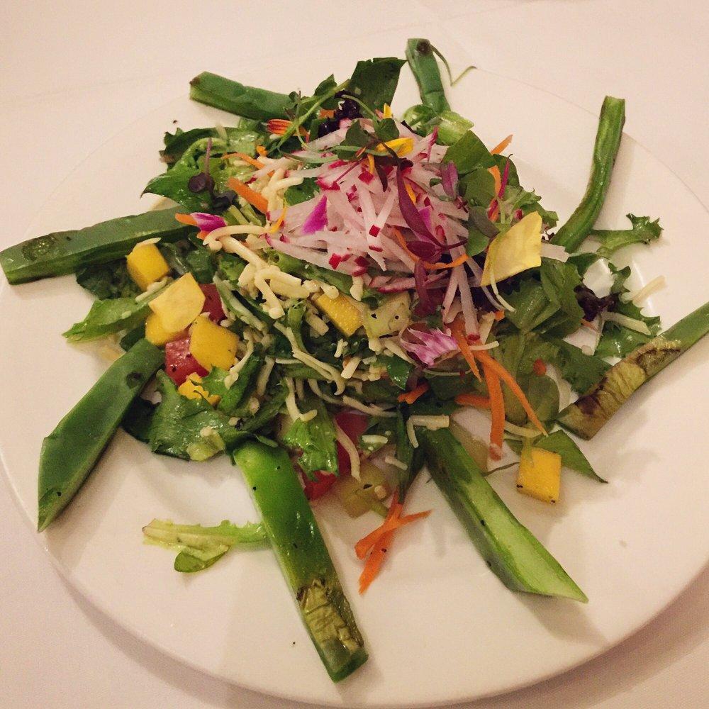 Enjoying fine Mexican cuisine, Brenda salad: Nogales, mango, radish ...