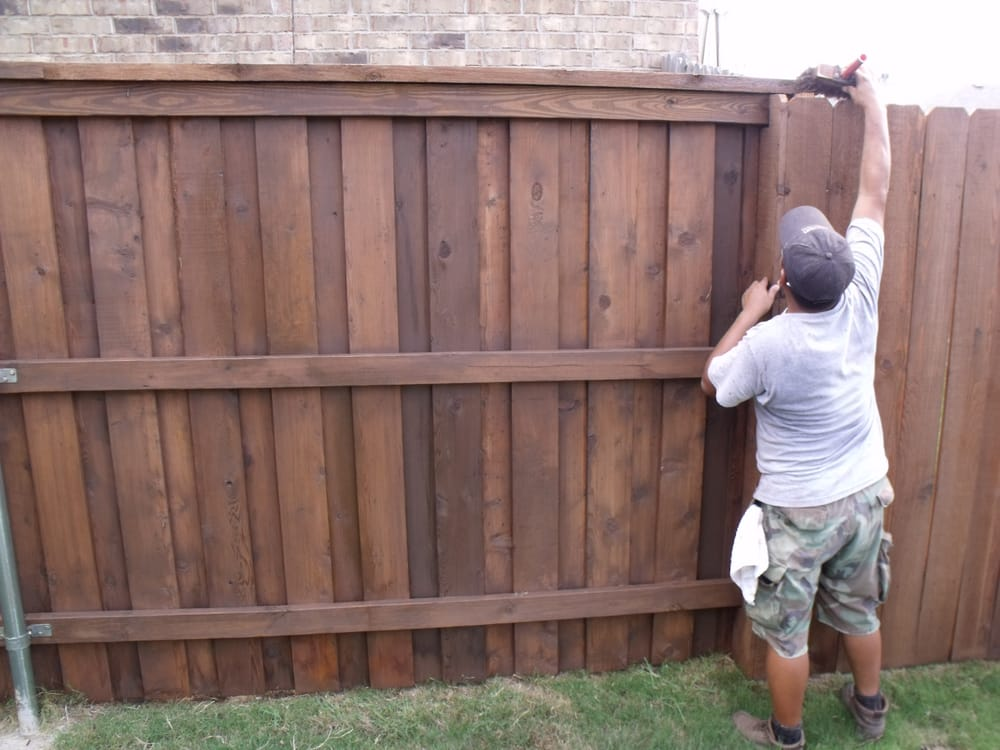 59 Photos For Great Dane Fence Staining