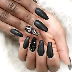 Photo Of Davi Nails Hyattsville Md United States Black Matte
