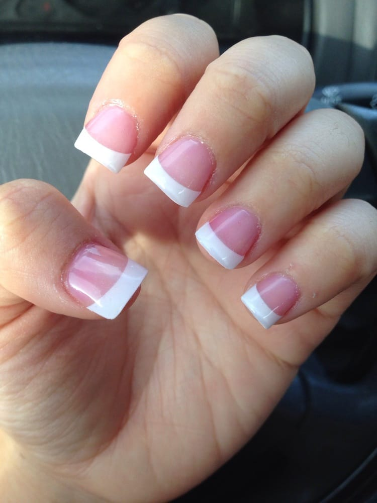 French tip acrylics (natural finish) - Yelp
