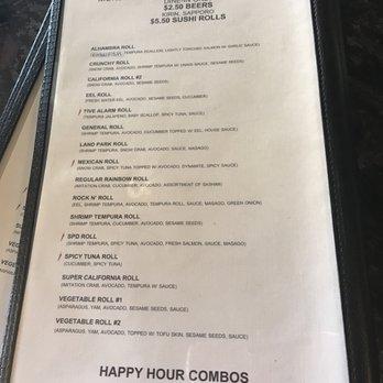Sushi Cafe Sacramento Happy Hour Menu
