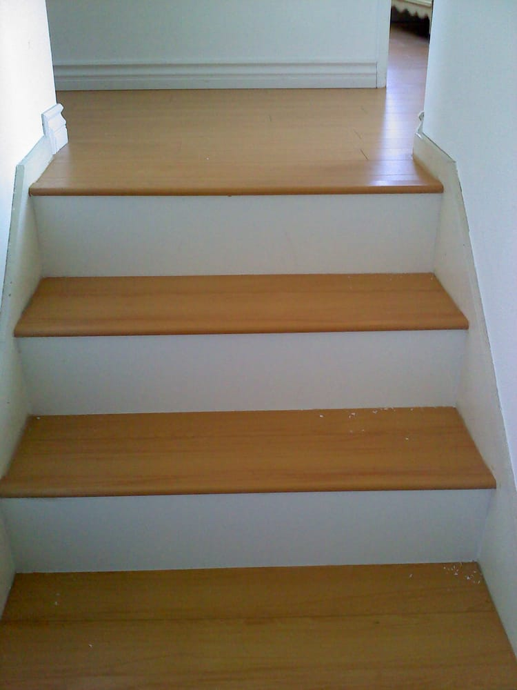 Laminate Steps With White Kick Plate Yelp