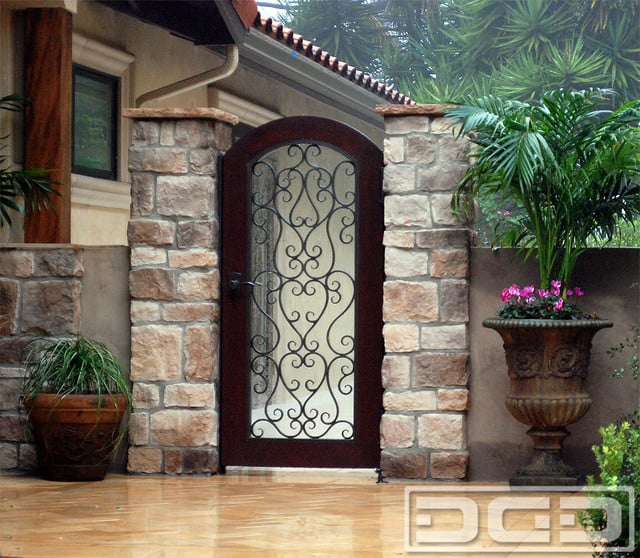 Mediterranean Style Garden Gates With Hand Forged Iron