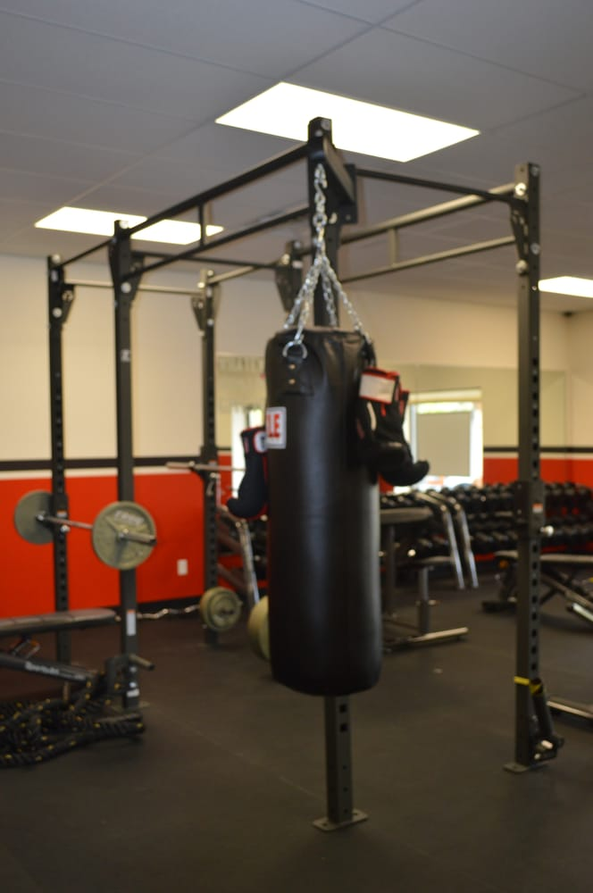 Auto Service Near Me >> Heavy Bag w/washable gloves. TRX body weight trainer. Bench press. Squats. Deadlifts. Sledge ...
