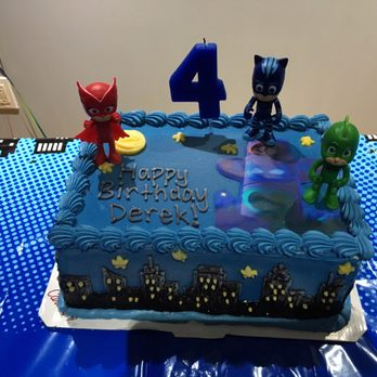 Pj Mask Decorated Sheet Cake
