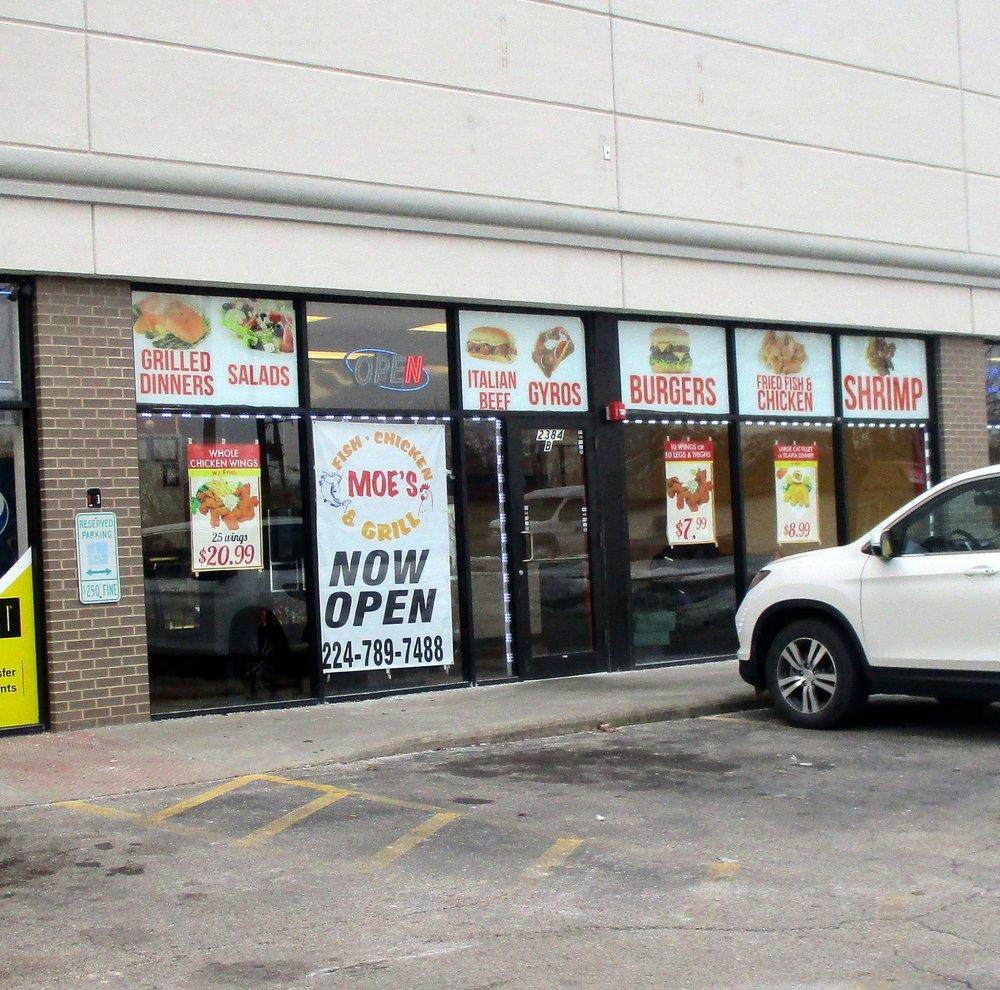 Moe's Fish Chicken & Grill: 2384 Sheridan Rd, Zion, IL