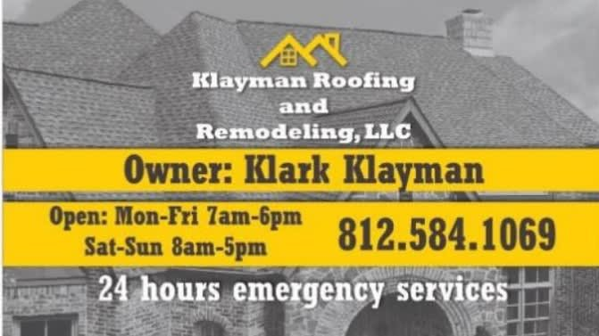 Klayman Roofing and Remodeling: Moores Hill, IN