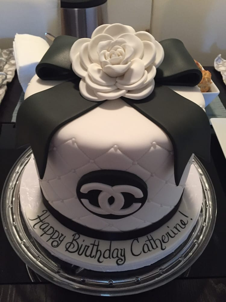 My custom Chanel Birthday cake! - Yelp