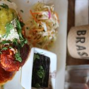 'Photo of Brasil - Houston, TX, United States. Delicious pupusas paired with refreshing curtido' from the web at 'https://s3-media3.fl.yelpcdn.com/bphoto/bhzneH07MzWkIoIodf1Z5A/180s.jpg'