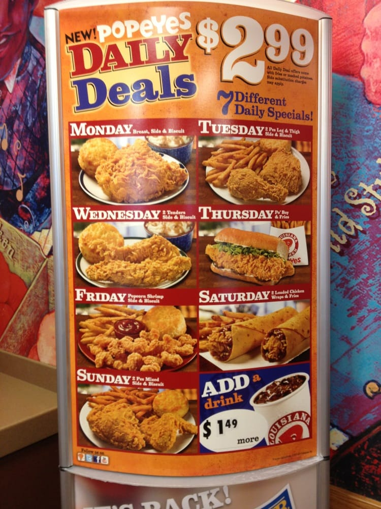 Chicken Restaurant Deals & Coupons Satisfy your chicken craving for less with deals from restaurants such as Buffalo Wild Wings, Chick-fil-A, KFC, and Popeye's. Advertiser Disclosure.