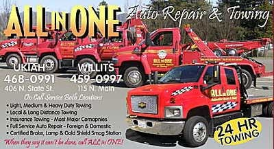 All In One Towing: 2531 Stokes Ave, Upper Lake, CA