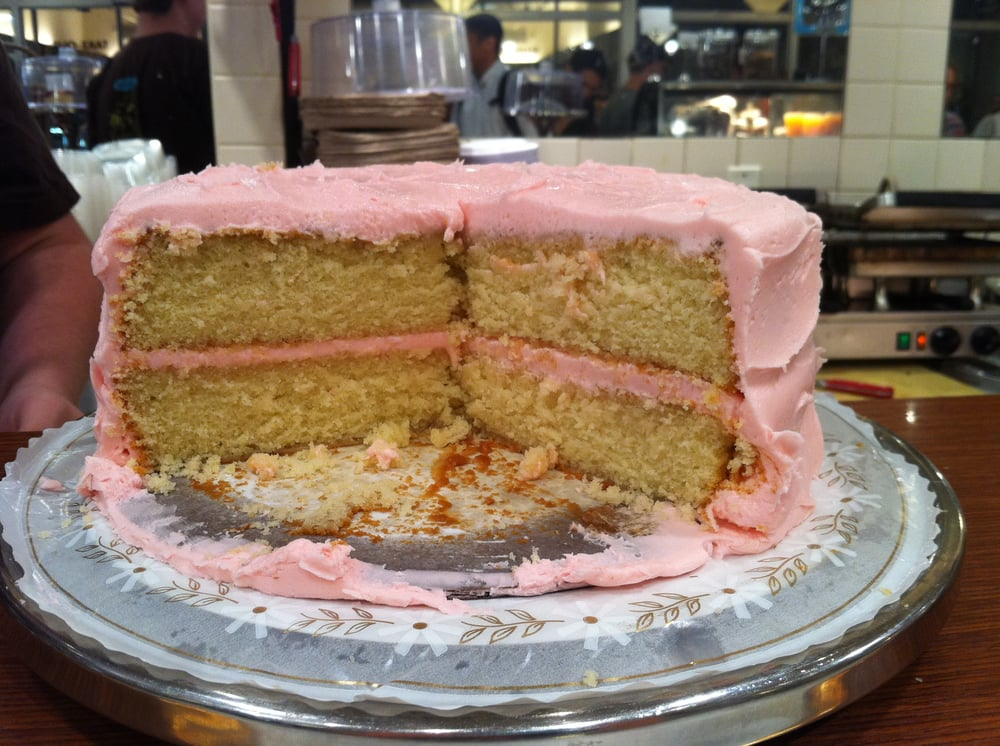 Amys Bread Yellow Cake Pink Frosting