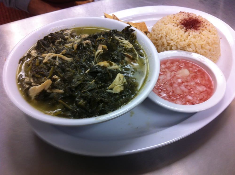 Mloukhieh okra leaves with chicken and rice yelp for Al amir lebanese cuisine