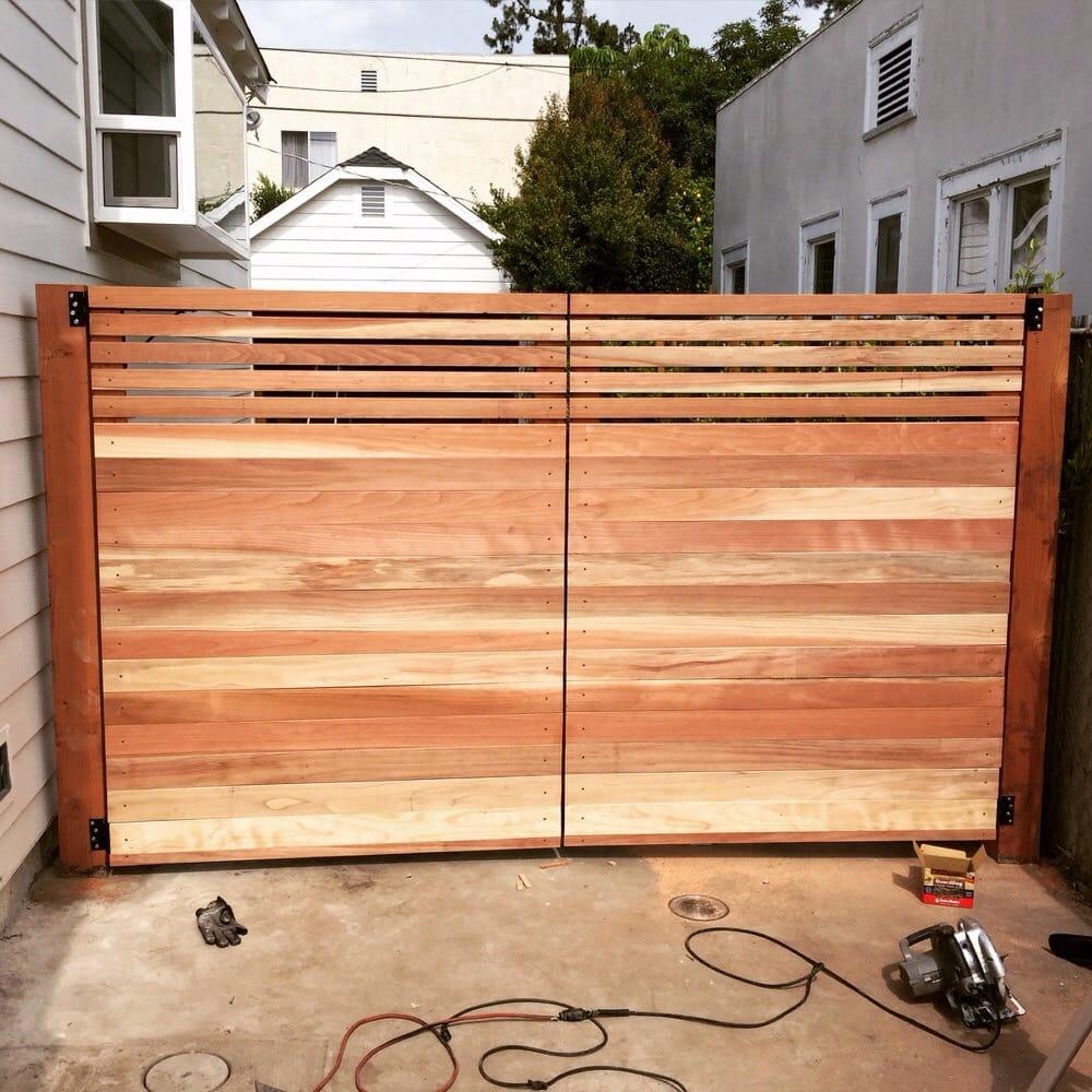 Custom Wood Gates: Custom Driveway Gate Build In Los Feliz