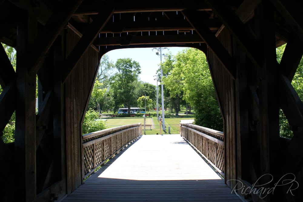 Guelph Town Lattice Covered Bridge - Landmarks & Historic Buildings - York Road Park, Guelph, ON ...