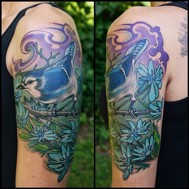 I once got attacked by a blue jay that was protecting its for Tattoo roanoke va