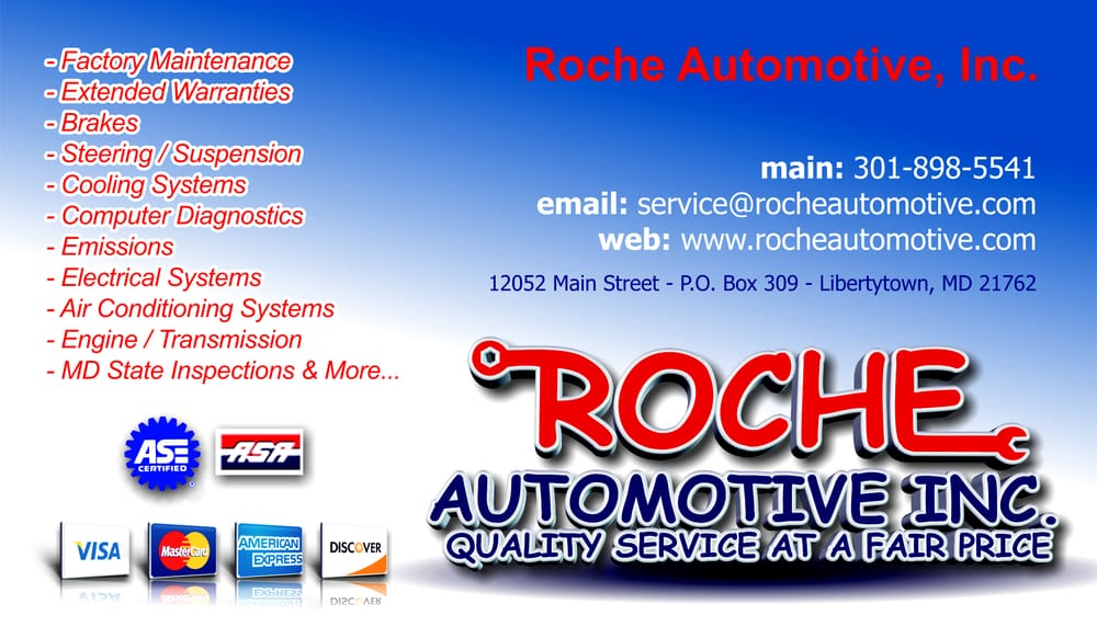Roche Automotive Inc: 12052 Main St, Libertytown, MD