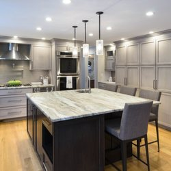 Photo Of Dream Kitchens   Nashua, NH, United States. Gray Stained Cabinets  With