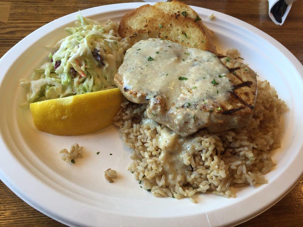 Ahi tuna w brown rice yelp for Fish dish sherman oaks