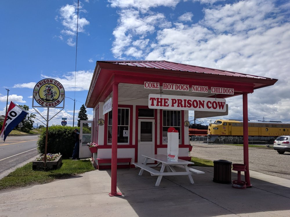 Old Prison Cow Ice Cream: 1106 Main St, Deer Lodge, MT