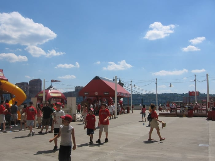 Reds Fan Zone: 100 Joe Nuxhall Way, Cincinnati, OH