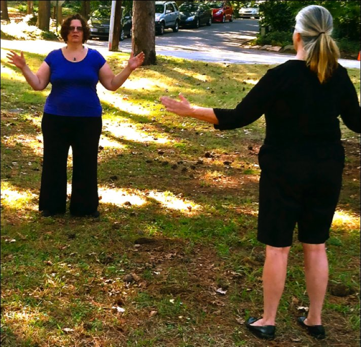 Qi Gong combines gentle movement, breathing, and intention