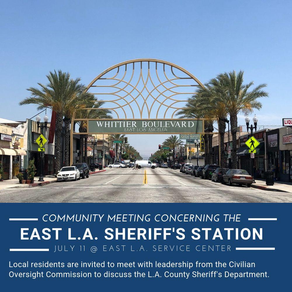 East Los Angeles Sheriff Dept: 5019 E 3rd St, Los Angeles, CA