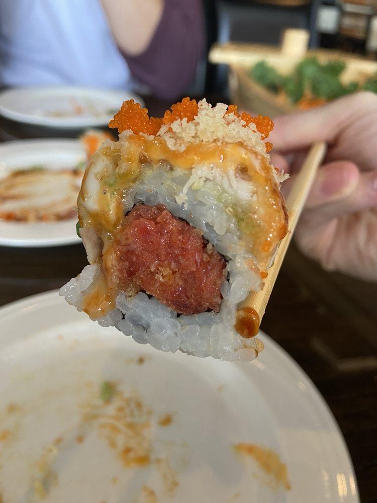 Food from Bluefin Hibachi and Sushi Bar