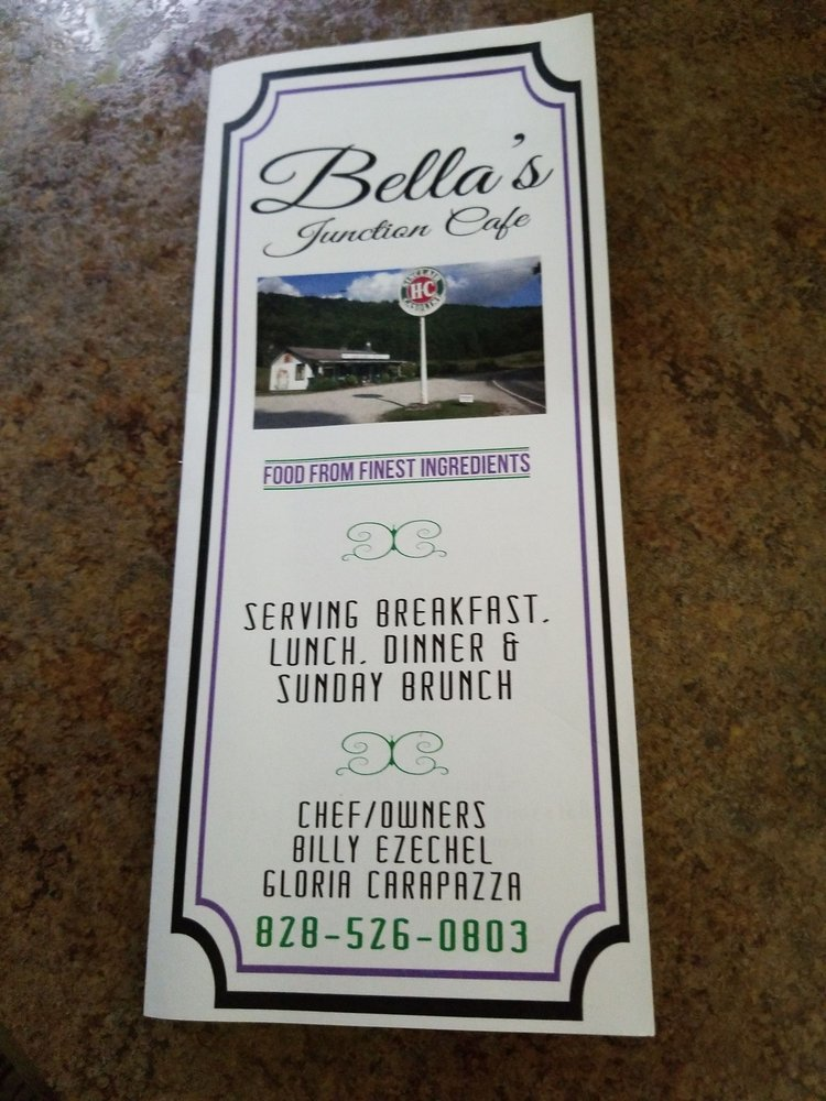 Bella's Junction Cafe: 20 Old Mud Creek Rd, Scaly Mountain, NC