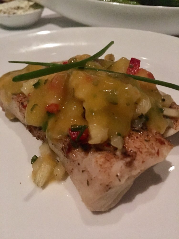 Halibut with mango salsa yelp for Monterey fish grotto