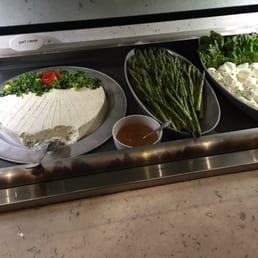 Texas de Brazil - West Nyack, NY, United States. Goat cheese.  Asparagus.  Mozzarella balls.