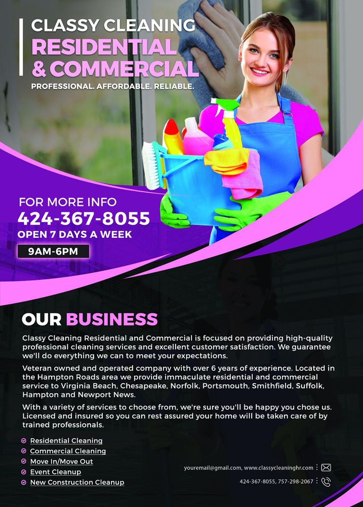 Classy Cleaning Residential and Commercial: Chesapeake, VA
